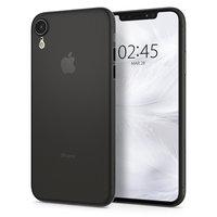 Coque iPhone XR Spigen Air Skin coque transparente - Noire transparente