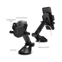 Spigen AP12T Téléphone Porte-gobelet d'aspiration - Noir voiture universel