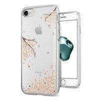 Coque iPhone 7 8 SE 2020 transparente Spigen Liquid Crystal Blossom - Transparente