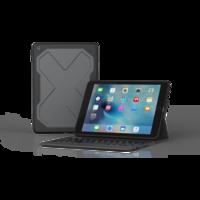 ZAGG robuste Messenger cas du clavier QWERTY pour iPad 9.7 2017 2018 - Noir