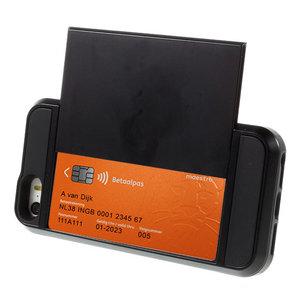 Etui Titulaire de la Carte Secret iPhone 5 5s SE Hardcase - Portefeuille - Portefeuille - Noir