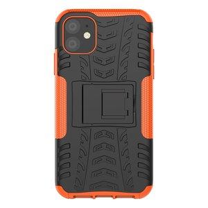 Hybride standaard case shockproof hoesje iPhone 11 - Oranje