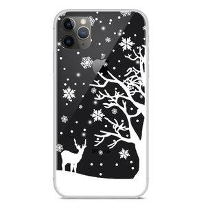 Kerst flexibel sneeuw hoesje winter case christmas iPhone 11 Pro - Transparant