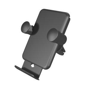 Grille de ventilation pour support de voiture Zens avec support de charge sans fil intégré 5W noir