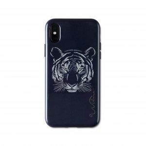 Coque iPhone X XS Wilma Glow in the Dark Tiger Glitter Wild - Noire