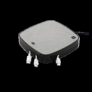 Station de charge X-Moove 3x USB-A 1x port USB-C 10W Qi Wireless Charging Pad - Gris