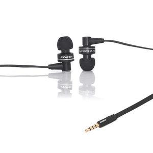 Qualité Sonore Awei In-Ear Ecouteurs Ecouteurs Noir Mic