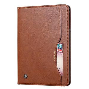 Etui Portefeuille Avec Porte-Stylo En Cuir Artificiel Pour iPad 10.2 Pouces - Marron
