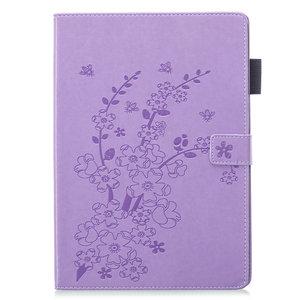 Portefeuille Etui Portefeuille Etui Faux Cuir Nature Blossom Plum Blossom pour iPad 10.2 - Violet