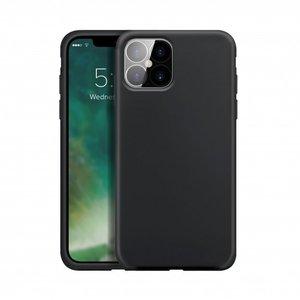 Xqisit Silicone Case Anti Bac Silicone Case pour iPhone 12 et iPhone 12 Pro - Noir