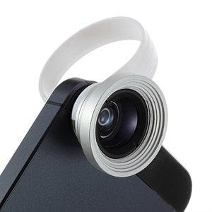Fisheye grand angle 2 en 1 et objectif macro avec clip universel