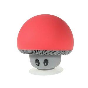 Haut-parleur sans fil bluetooth champignon champignon rouge