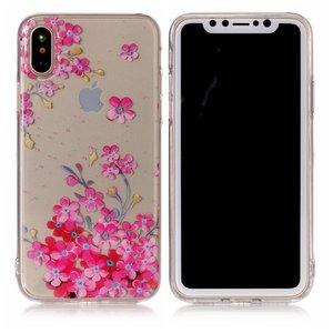 coque iphone xs transparente fleur