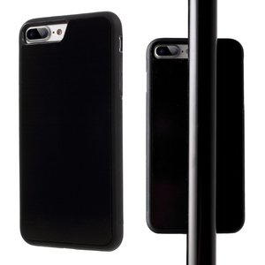 Coque Anti-Gravité Selfie mains libres Housse noire iPhone 7 Plus 8 Plus Coque nano