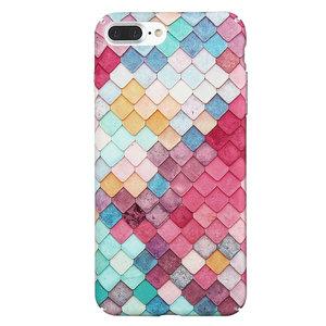 Coque rigide à échelles colorées pour iPhone 7 Plus 8 Plus