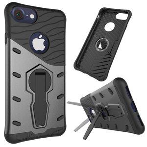 Béquille Armor Noir Gris iPhone 7 Plus 8 Plus