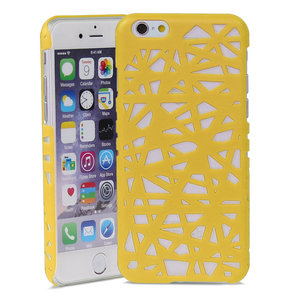 Coque rigide nid d'oiseau iPhone 6 6s design Nid d'oiseau - Jaune