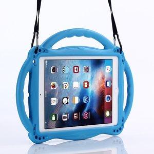 Étui iPad Air 2 et iPad 2017 2018 Amortisseur EVA adapté aux enfants - Bleu 3 poignées