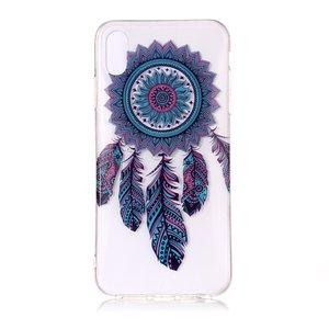 Coque en TPU Clear Dreamcher iPhone XS Max - Bleu Violet