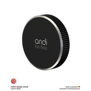 Andi Be Free Universal Chargeur sans fil - 15W Noir